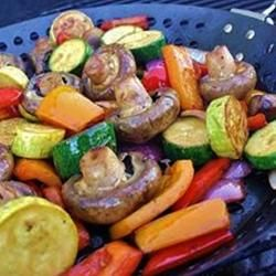 Easy Grilled Marinated Veggies. Olive oil, soy sauce, lemon juice, crushed garlic!