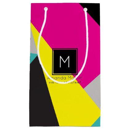 Modern Geo Colors Small Gift Bag  $9.00  by 2DivasMarketing  - cyo customize personalize unique diy idea