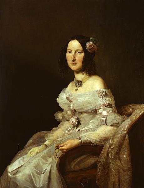 Portrait of a Lady by Ferdinand Georg Waldmüller, 1837