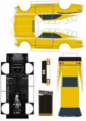 Brinquedos de Papel Para Imprimir e Montar Carros