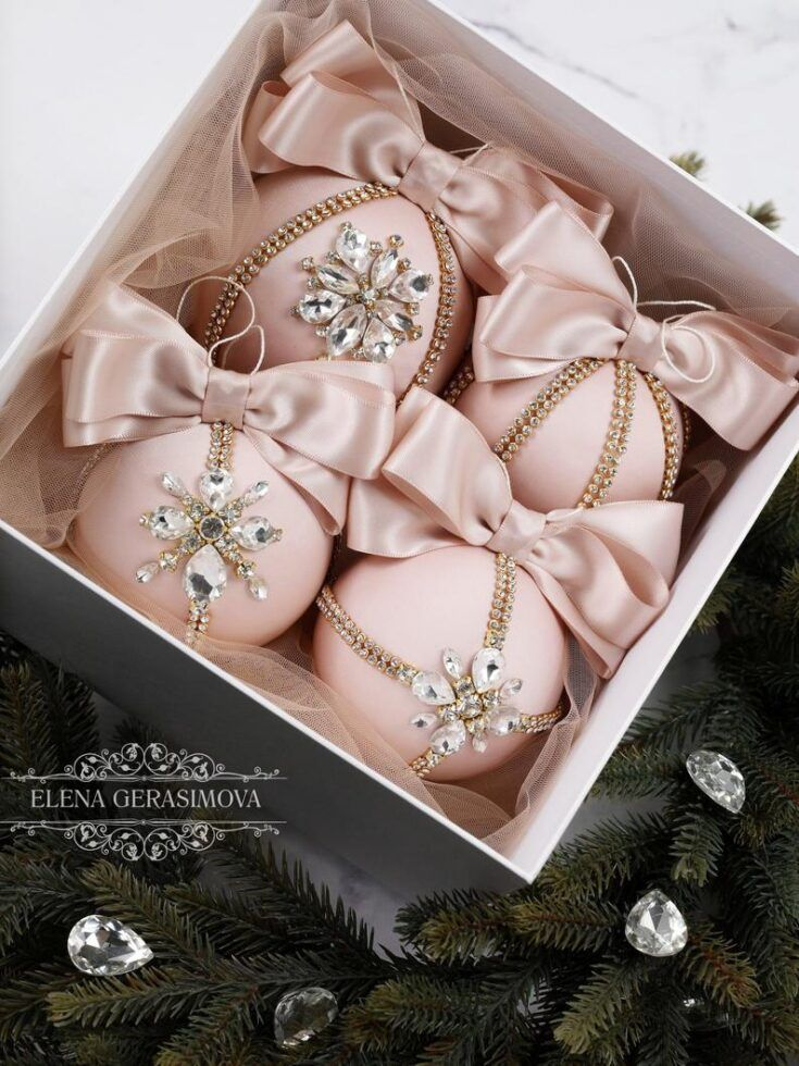 25 Blush and Rose Gold Christmas Decorations in 2020