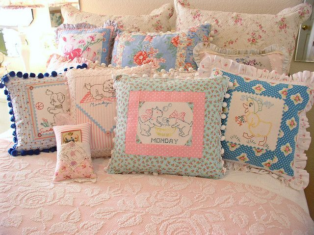 Pillows... by sweetcottagedreams, via Flickr