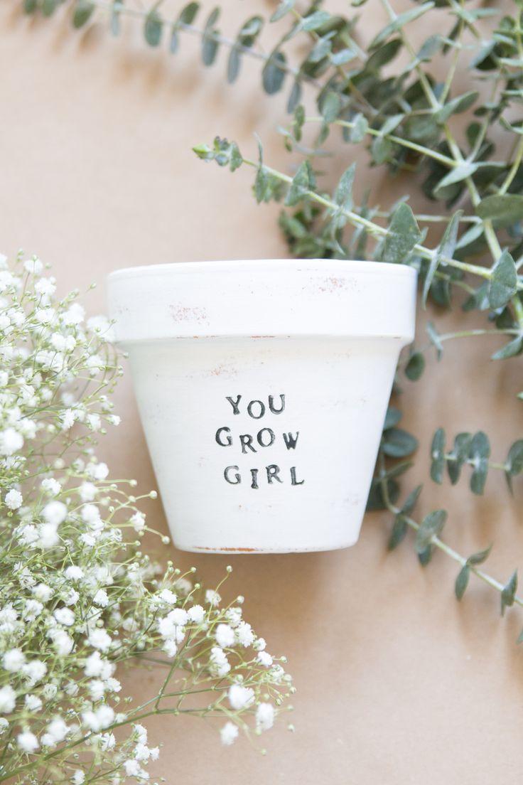 You Grow Girl Pot // @shesawildflowerco