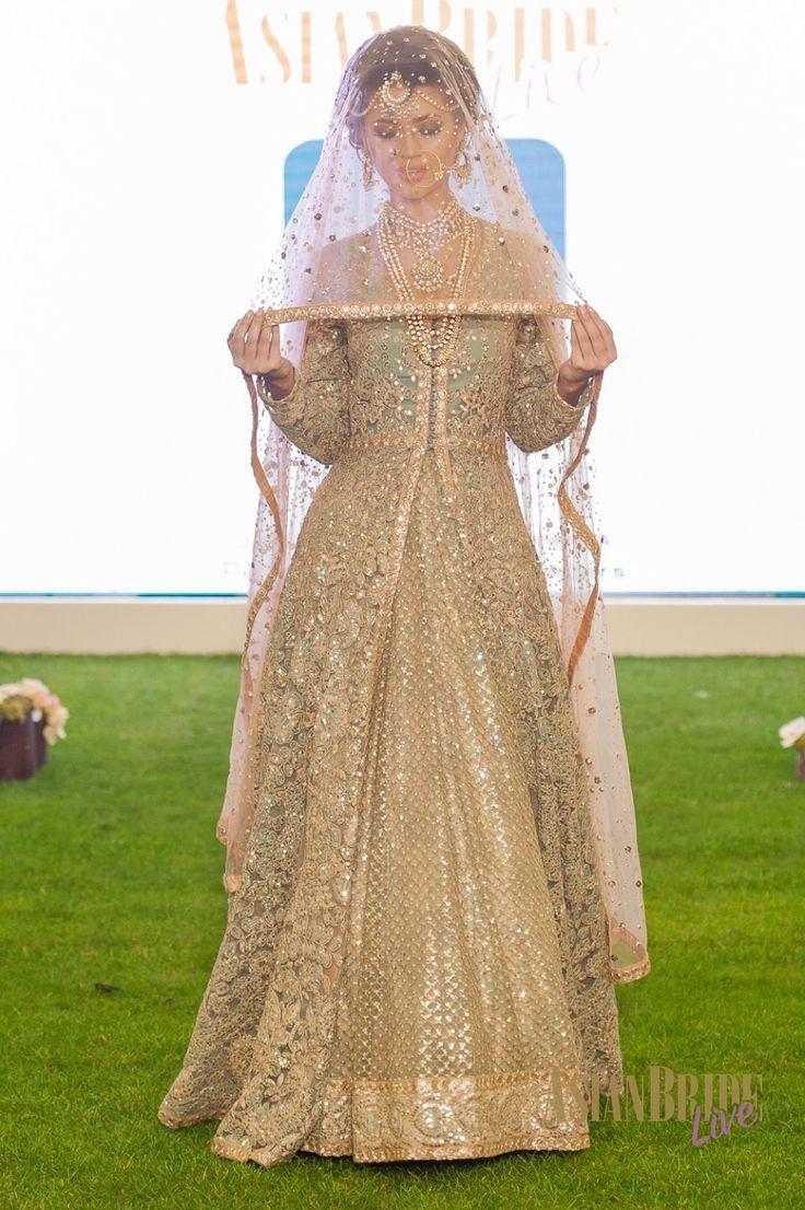 Gold Shyamal bhumika Bibi London Bridal Lengha Bibi London -INDIAN-PAKISTANI-WEDDING-FASHION