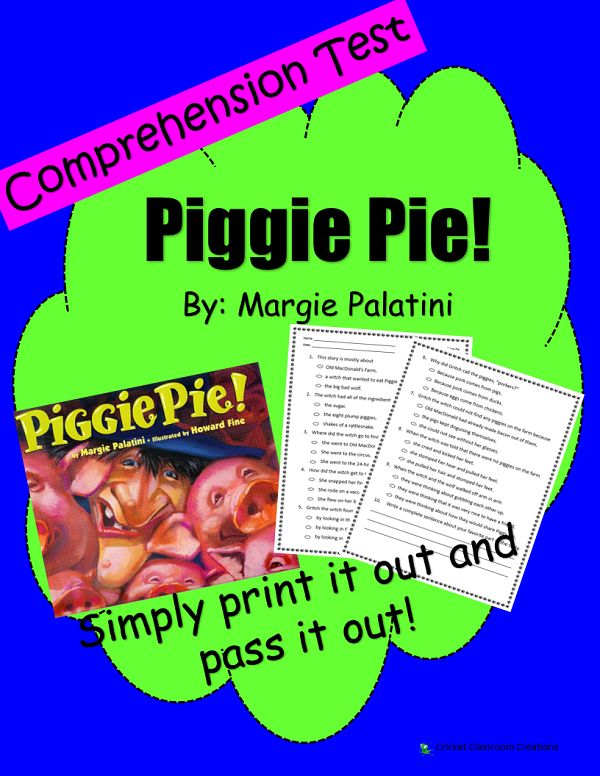 The 47 best margie palatini author of many funny award winning comprehension test piggie pie first or second grade fandeluxe Image collections