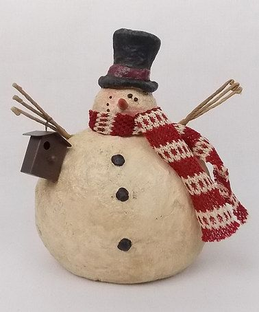 Another great find on #zulily! Chubby Snowman Figurine #zulilyfinds