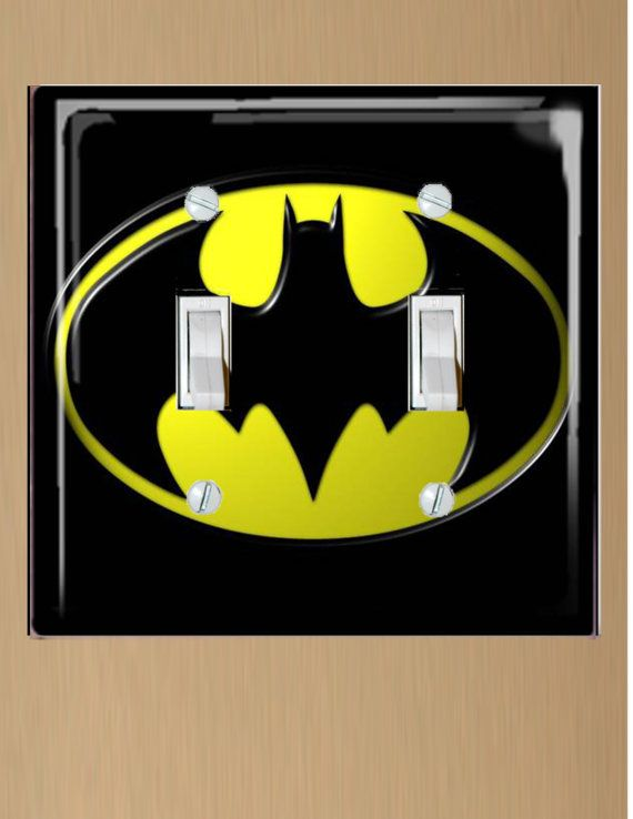 Hey, I found this really awesome Etsy listing at https://www.etsy.com/listing/91040048/batman-double-light-switch-wallplate