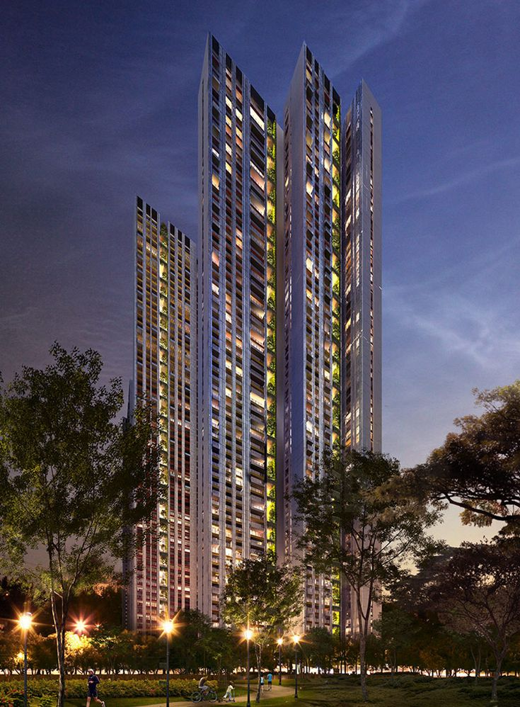 WOHA Plans New Cuffe Parade Development In Mumbai India Centered Around A Ten Hectare Park The Large Scale Complex Comprises 10 Residential Towers