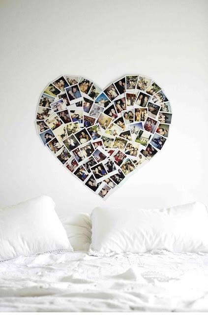 Polaroid Heart. Wonderful idea!! Love it!! <3