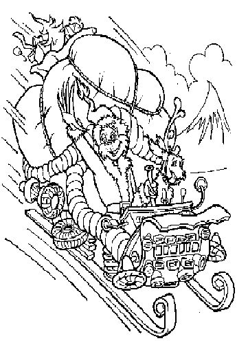 Grinch with his dog, Max coloring page | Christmas | Pinterest