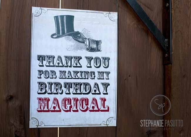 """Could that sign be any more appropriate when it says """"This is where the magic happens""""? This boy's magic themed 6th birthday is completely magical. It was thrown by Stephanie of"""