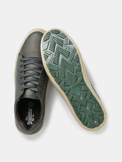 Buy Roadster Men Grey Sneakers - Casual