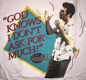 90s Vintage Seinfeld Shirt Kramer Funny TV Show 1990s Pop Culture Cool Hip RARE | eBay