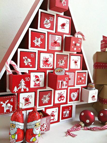 advent calendar wood tree - Google Search