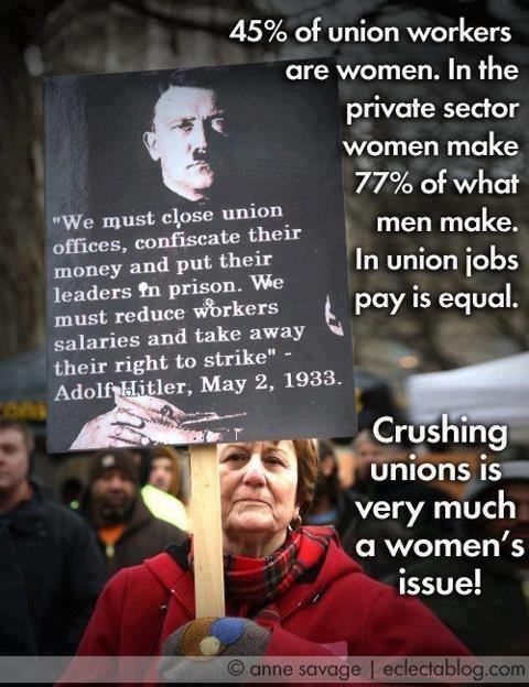 Two things most women/feminists/men don't understand is that Birth and Unions are a Feminist issue
