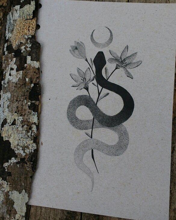 Mystic Serpent 🔮🌙🌿 🔮🌙🌿Art ist f…