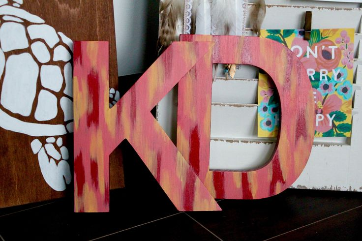 Kappa Delta sorority, painted wooden letters                                                                                                                                                                                 More