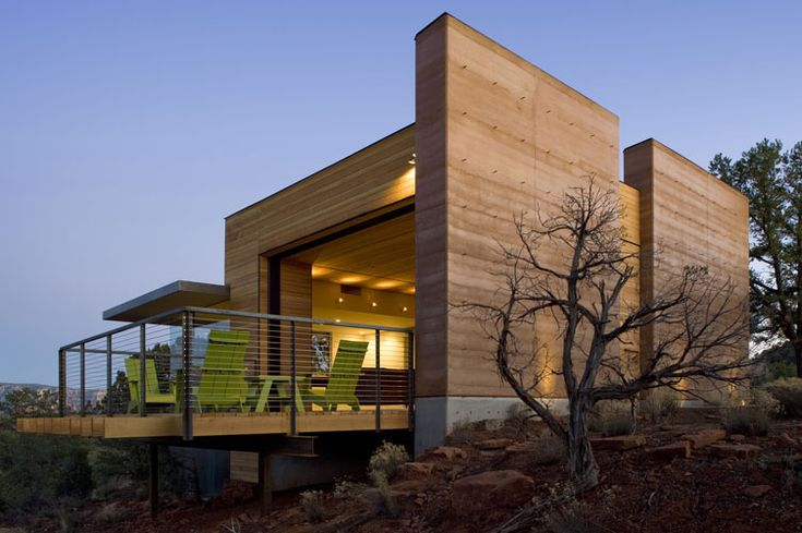 Figure 7: Desert house with rammed earth walls