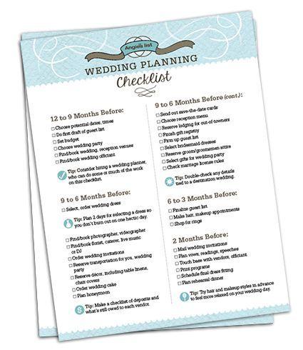 75 best Budget Wedding Checklists images on Pinterest
