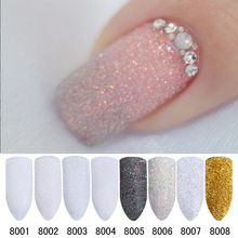 2 gr/schachtel Holographische Nagel Glitter Pulver Glänzende Zucker Nagel Glitter Staub Pulver Nail art Verzierungen Eingestellt(China (Mainland))