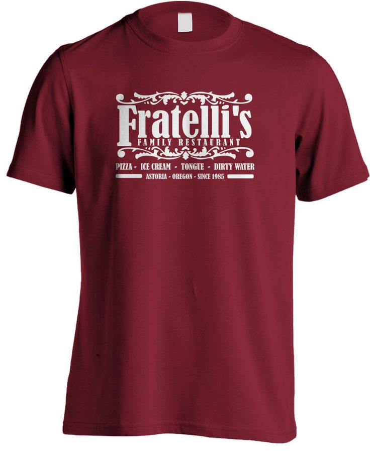 The Goonies Movie - Fratelli's Restaurant T-shirt by MetaCortexShirts on Etsy https://www.etsy.com/listing/127794951/the-goonies-movie-fratellis-restaurant-t