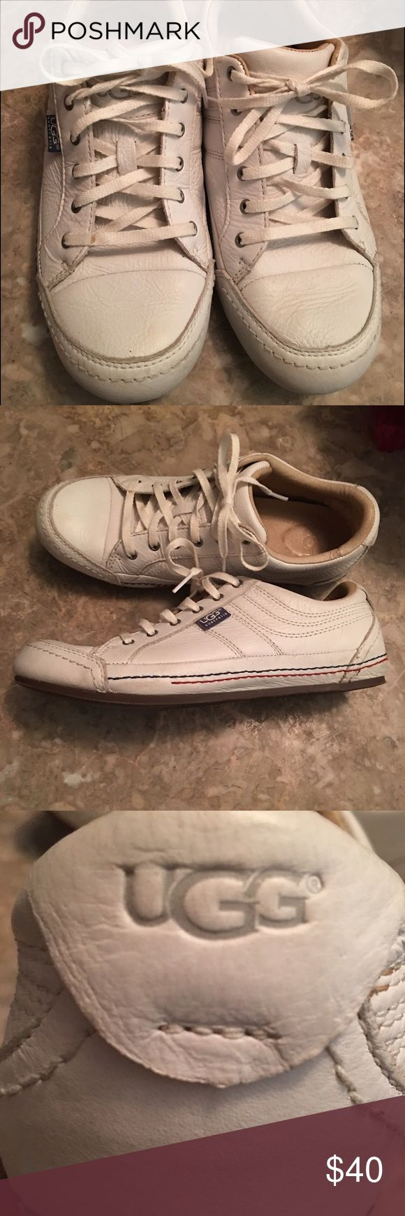 UGG shoes White UGG Sneaker. Worn but very wearable. Ok to make offers or ask questions. No trades UGG Shoes Sneakers