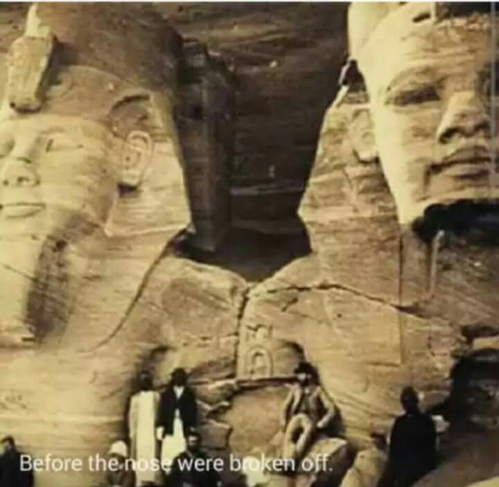 The sphinx before Napoleon shot it's nose off