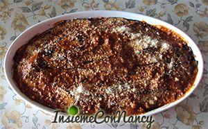 Parmigiana di melanzane grigliate con ragù alla bolognese