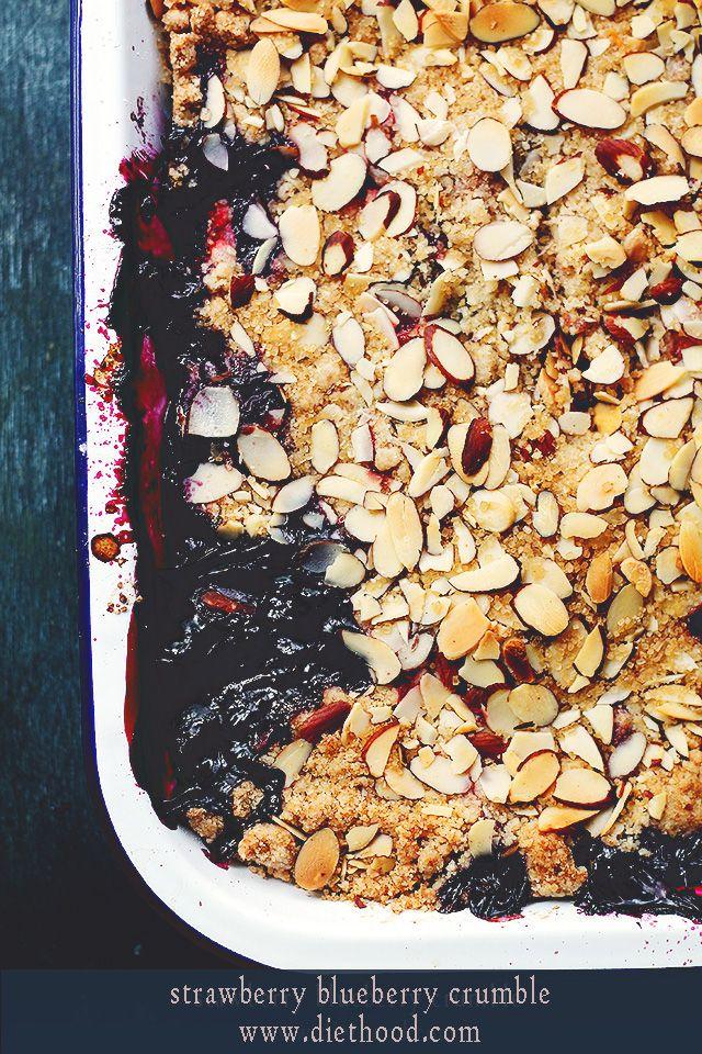 Strawberry Blueberry Crumble via Diethood