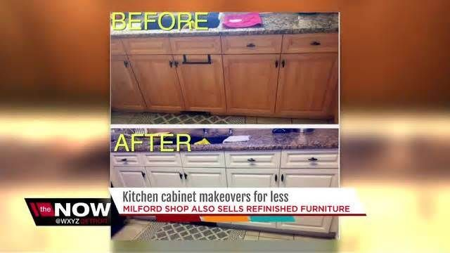 """Milford business owner gives kitchen cabinets a new look MILFORD, Mich. (WXYZ) - In a small workspace in downtown Milford, Stephanie MacDermaid and her team are giving new life to kitchen cabinets homeowners aren't a fan of anymore. """"I paint kitchen cabinets,"""" she explains. """"I take 80's oak, 90's maple ..."""