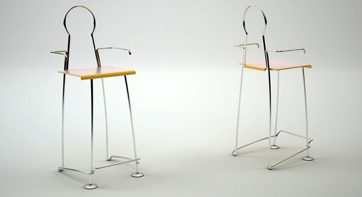 MAY - I  © Dr.HAKAN GÜRSU / DESIGNNOBIS With the elegantly bent metal pipes symbolizing a sitting man posture,  May-I is an adorable bar stool designed for classy spaces.