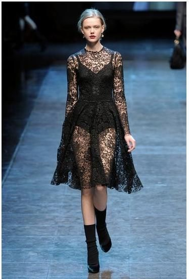 $32.99 2014 runway trend women brand fashion nobility of perspectivity royal elegant full lace one-piece dress long sleeve