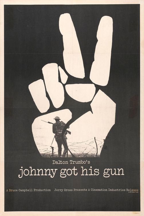 Steven Seidman Johnny got His Gun Poster. A cool poster that shows the isolation between the character and the background. It is useful when explaining about gloomy or suppressed composition of the characters. In this case, we can see that soldier is destined to be dead or wounded but he is not permitted to turn back. This helps to emphasize the idea of the thing that cannot be changed.