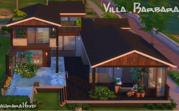 Sims My Homes: Villa Barbara • Sims 4 Downloads