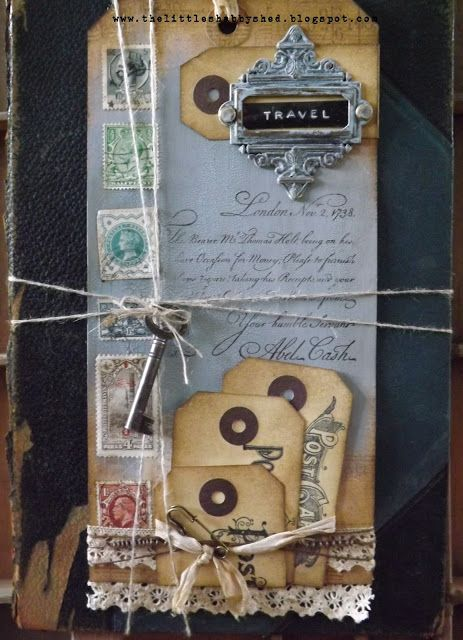 The Little Shabby Shed: Vintage Tag hanging