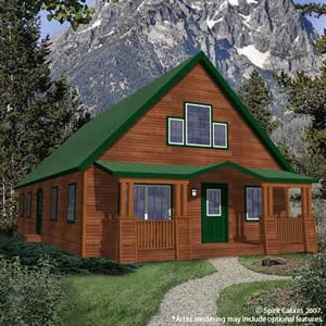 Cabin ideas metal roof and green doors on pinterest Cabins with metal roofs