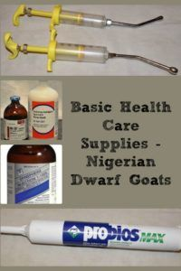 Basic Health Care Supplies – Nigerian Dwarf Goats