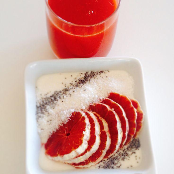 Colazioni da sogno: rosso pompelmo