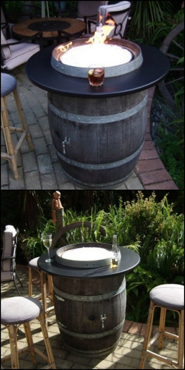 best 25 wine barrel fire pit ideas on pinterest