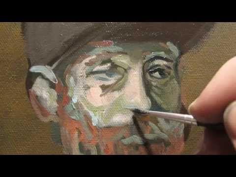 Van Gogh painting techniques. Paint landscape like van Gogh. Painting tutorial of easy painting - YouTube
