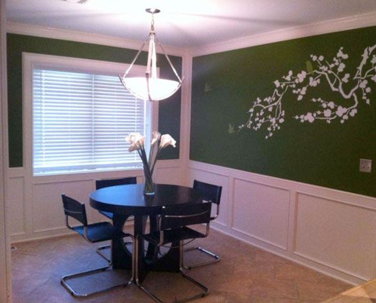 "green dining room | MacKensie's ""Leafy Green"" Dining Room Room for Color 2010 