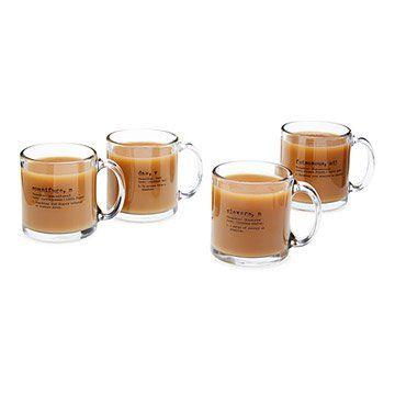 Life by Definition Coffee Mugs - Set of 4 | Playful Glass Coffee Mugs | UncommonGoods