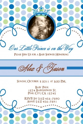 Little Prince And Little Princess Baby Shower Invitations Baby Boy
