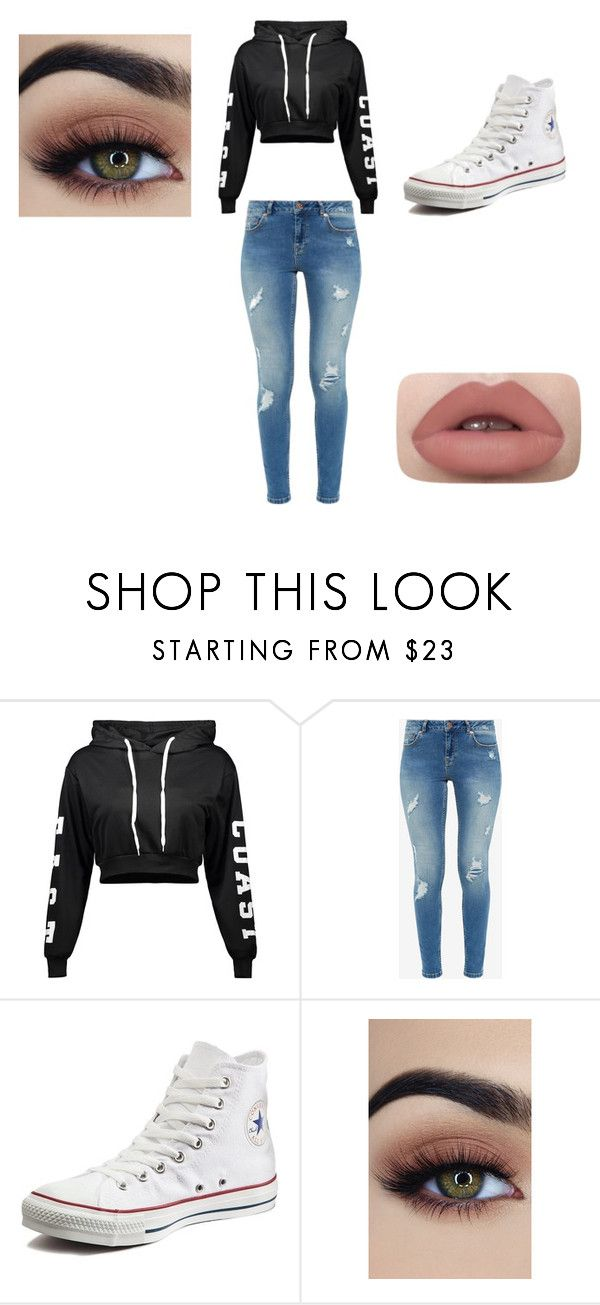 """Untitled #13"" by dark-soul335 ❤ liked on Polyvore featuring Ted Baker and Converse"