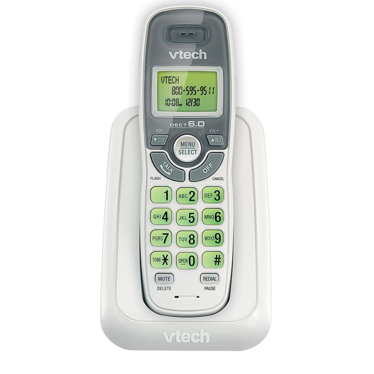 VTech CS6114 DECT 6.0 Cordless Phone with Caller ID Call Waiting White Grey 1 Handset