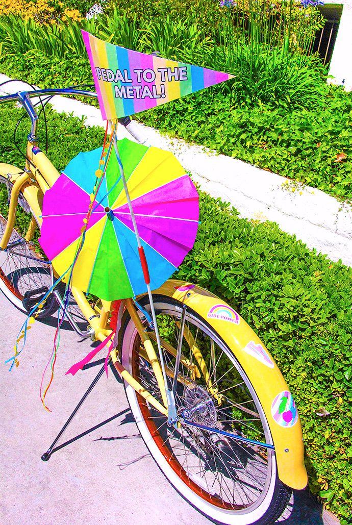 Printable Rainbow Bike Flags
