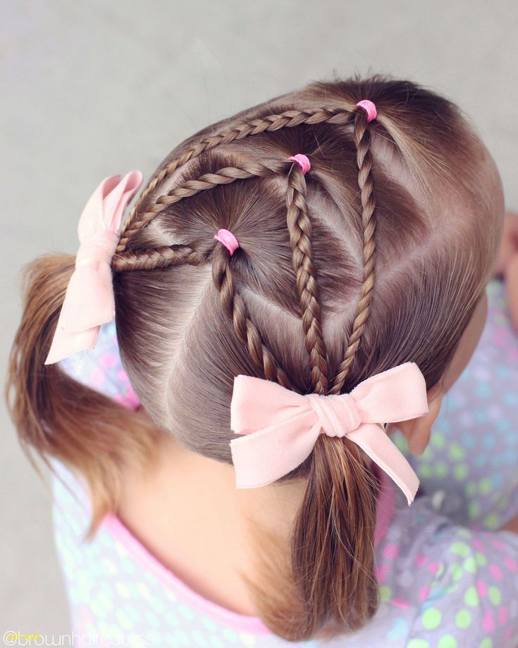 Beautiful braid pigtails toddler