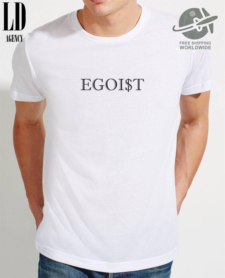 T-SHIRT EGOIST / tshirt artistic / tee hipster  / tshirts trendy  / tees funny / tshirt gift  / clothing / cash by LDAgency on Etsy