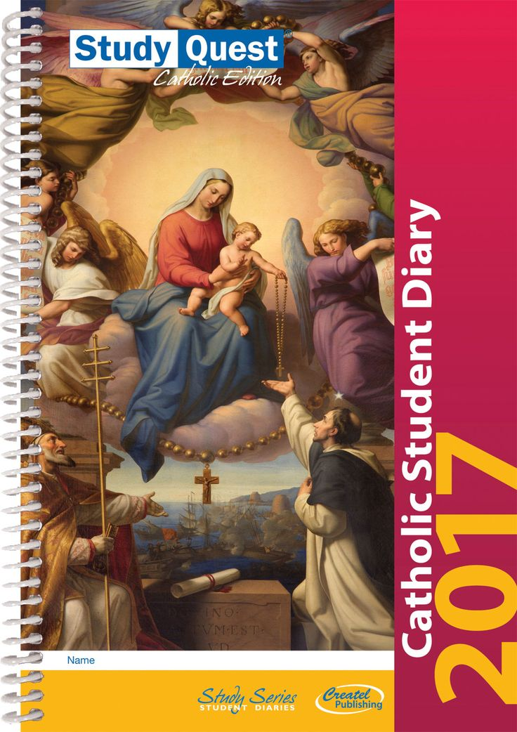 With revised pages for 2017, the StudyQuest Catholic Edition effectively combines the essential features of a student planner with information to help students to grow in their understanding of the Catholic faith. Featuring reflections on scripture verses and wellbeing tips on every full-colour weekly spread, this diary is an invaluable faith-affirming companion for every Catholic school student.