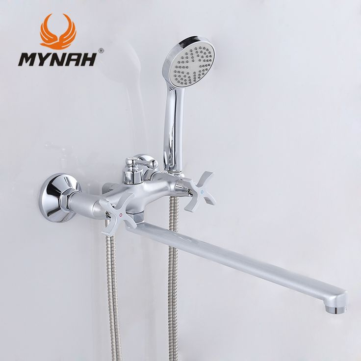 MYNAH Russia free shipping Bathroom Shower Faucets Bathtub Faucet Mixer Tap With Hand Shower Sets shower faucet